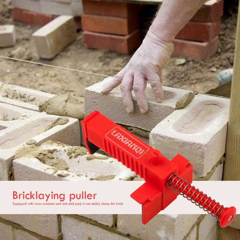 2pcs Bricklaying Wire Drawer Engineering Building Bricklaying Fixer Stainless Steel Plastic Tool With Anti-skid Pad