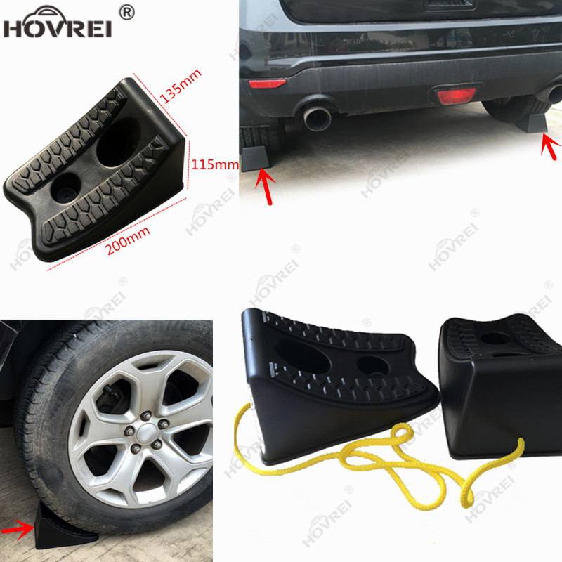 Repair-Tool Chock Stop Tire-Wheel Heavy-Duty Truck Hamper-Resistant Car 2pcs for SUV title=