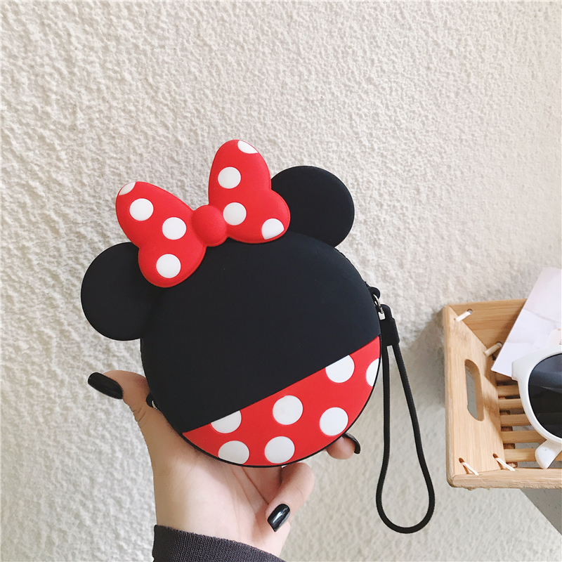 Kawaii Fashion Coin Purse Lovely Cute Cartoon Mickey Mouse Pouch Women Small Wallet Soft Silicone Money Bag Kids Birthday Gift