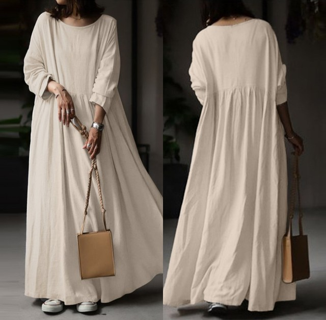 extremely comfortable long casual dress, long sleeves day to night 3