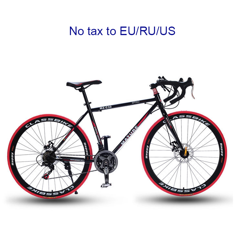 700C Road Bike 21/27/30 Variable Speed Bicycle Bend Handle Double Disc Brake Aluminum Road Bicycle Male And Female Bike