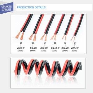 Image 4 - 150m cavo LED 16AWG filo Elettrico cavi UL2468 300V rame Rosso nero prolungare RVB filo Per La Striscia del LED isolati IN PVC filo da DHL