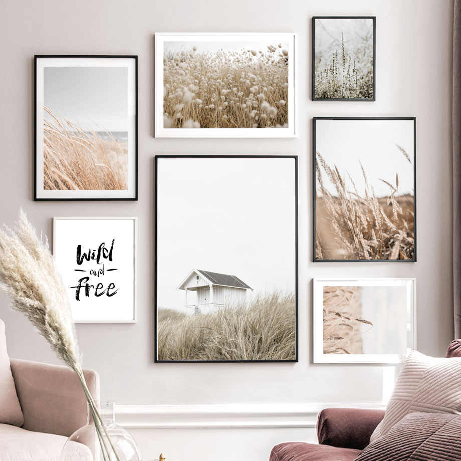 Autumn Straw Wheat House Quotes Wall Art Canvas Painting Nordic Posters And Prints Landscape Wall Pictures For Living Room Decor Aliexpress
