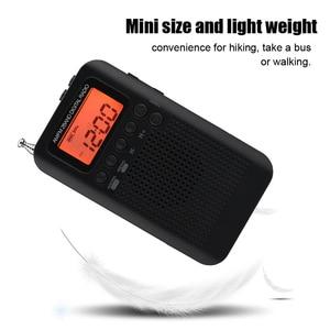 Image 3 - Mini LCD cyfrowy głośnik radiowy FM/AM budzik wyświetlacz czasu gniazdo jack do słuchawek 3.5mm radio przenośne