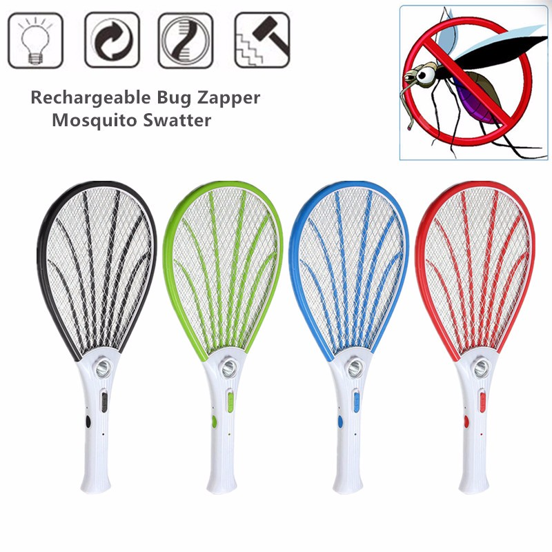 Home LED Rechargeable Electric Fly Mosquito Swatter Mosquito Killer Bug Zapper Racket Insects Killer Mosquito Trap Swatter
