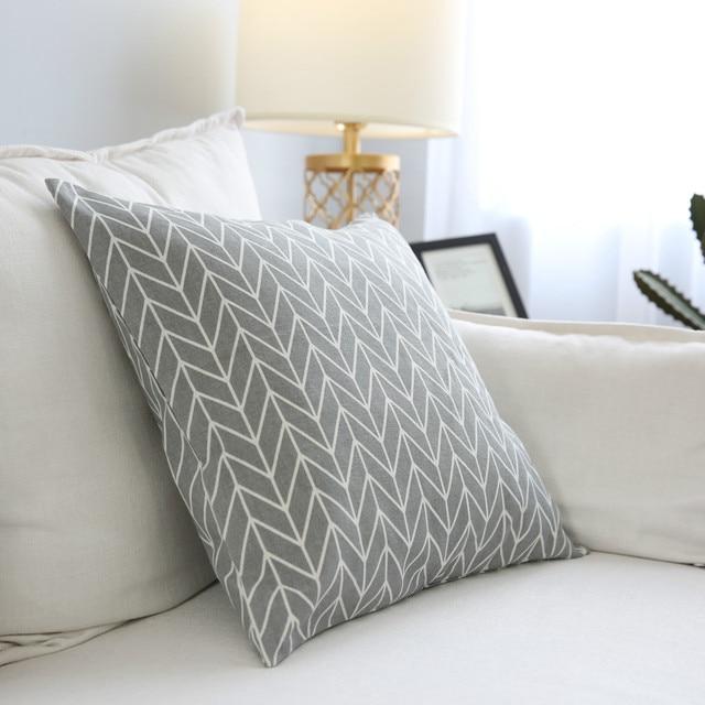 Фото чехол для подушки простой геометрический чехол диванной в клетку