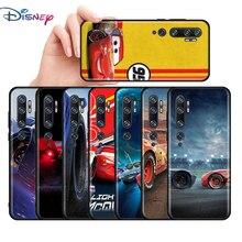 Cover nera in Silicone per auto saetta McQueen per Xiaomi Mi 11i 11 10i 10T 10 9 9T 9 8 Note 10 Lite Pro custodia per telefono Ultra 5G