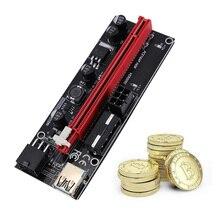 VER009 – carte PCI Express PCIE Riser 1x à 16x, prolongateur 009S 60cm, câble USB 3.0 SATA à 6Pin BTC, minage, 5/6/10 pièces