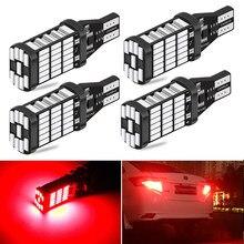 2 pçs t15 t16 w16w lâmpadas led canbus livre de erros led backup reversa luzes 921 912 w16w lâmpadas led carro invertendo lâmpada branco vermelho