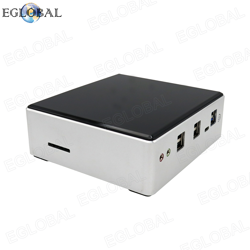 Eglobal 10th Gen Mini PC Computer Intel I7-10510U 4 Core 2*DDR4 M.2 SSD 2*LANs 4K HTPC Windows 10 Linux 8*USB USB-C HDMI Fan PC