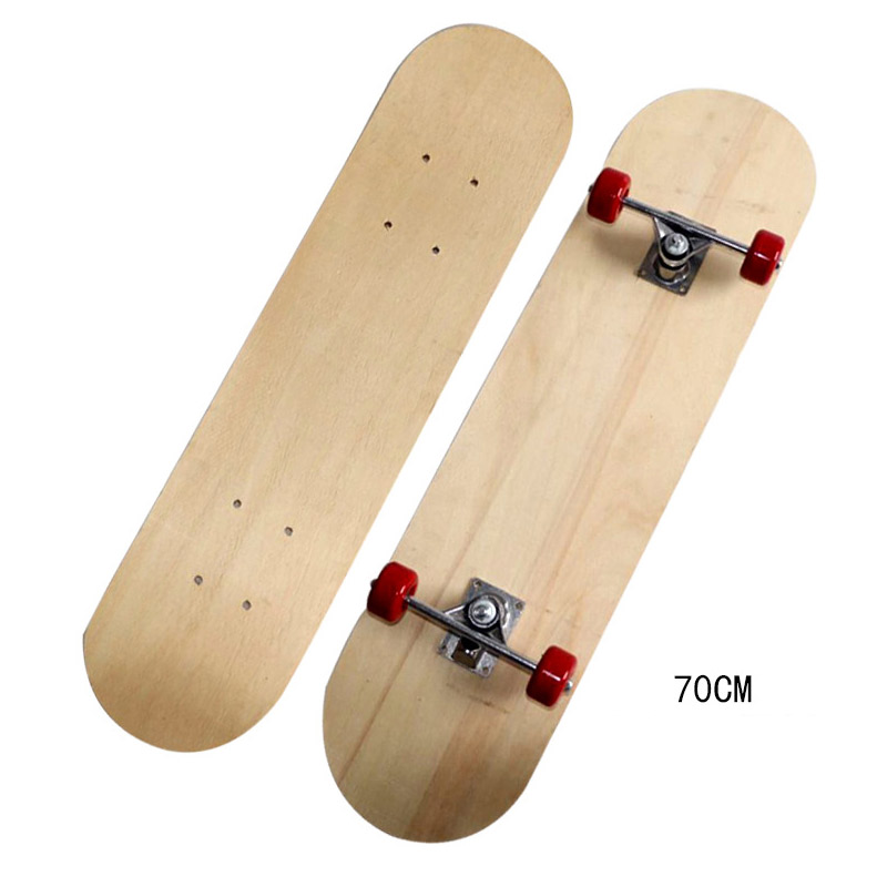 Four-wheel Skateboard Maple Double-sided Blank Board Maple Long Board Double Rocker Blank Non-printing DIY Parts Blank Board