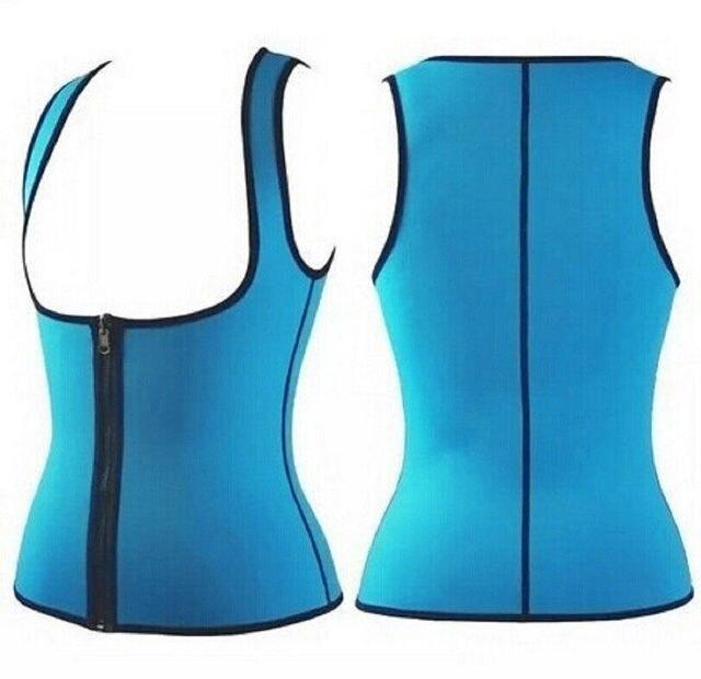Fashion Womens Zipper Neoprene Body Shaper Slimming Waist Slim Belt Yoga Vest Underbust Ladies Sweat Enhancing Waist Training 4