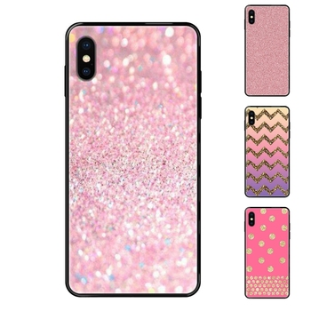For Samsung Galaxy A5 A6 A7 A8 A10 A10S A20 A20S A20E A21S A30S A40 A50 A70 A71 A70E Gold Pink Red Glitter Fashion Black Soft image