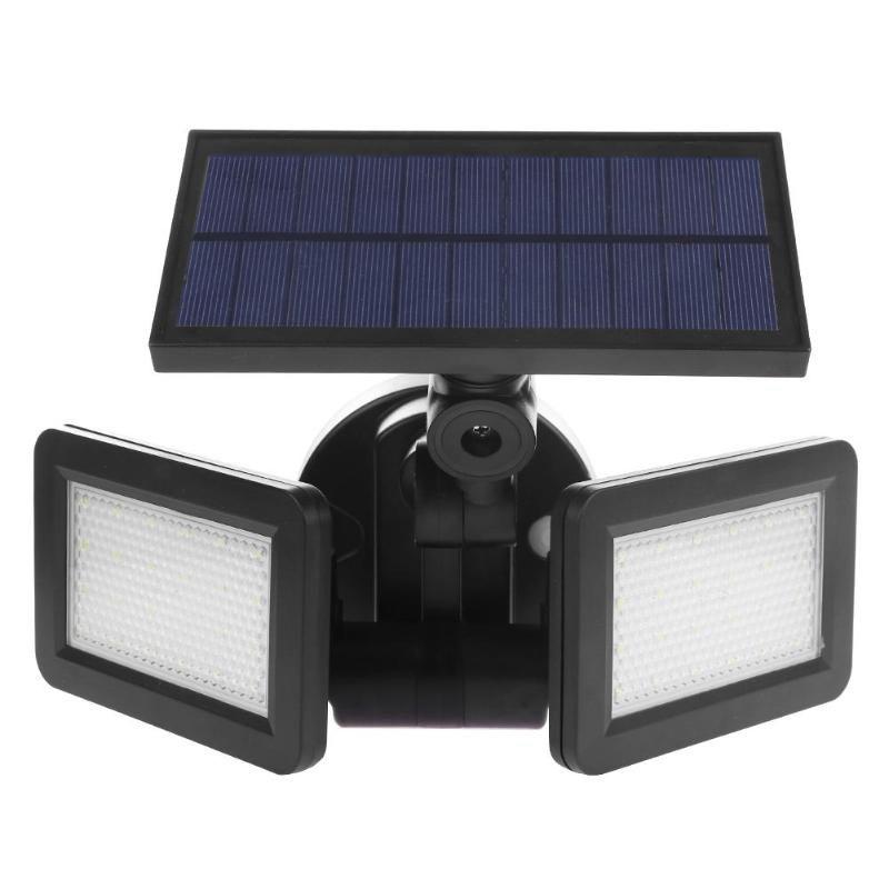 Dual Head 48LED Solar Light Radar Sensor Spotlight Waterproof Outdoor Solar Garden Lamp Light Super Bright Flood LED Lights