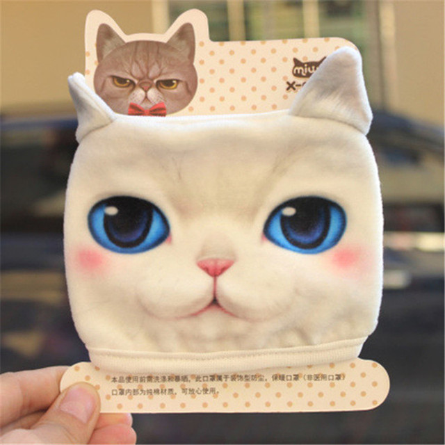 New Cute Cartoon Animal Funny Cat Dog Cotton Mouth Face Mask Anti Dust Masks For Korean Kpop Unisex Face Mouth Muffle Mask Anime 1