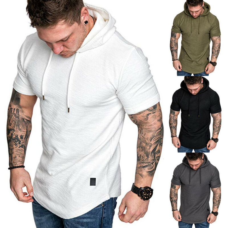 Hirigin Mens Sweatshirt Short Sleeve Autumn Spring Casual Hoodies Top Boy Blouse Tracksuits Sweatshirts Hoodies Men