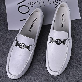 Loafers Men Shoes Genuine Leather Comfortable Men Casual Shoes Footwear Chaussures Flats Men Slip On Boat Shoes Men Chaussures фото