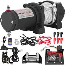 Electric Recovery Winch Kit ATV 1360KG Trailer Truck Car DC 12V Remote Control