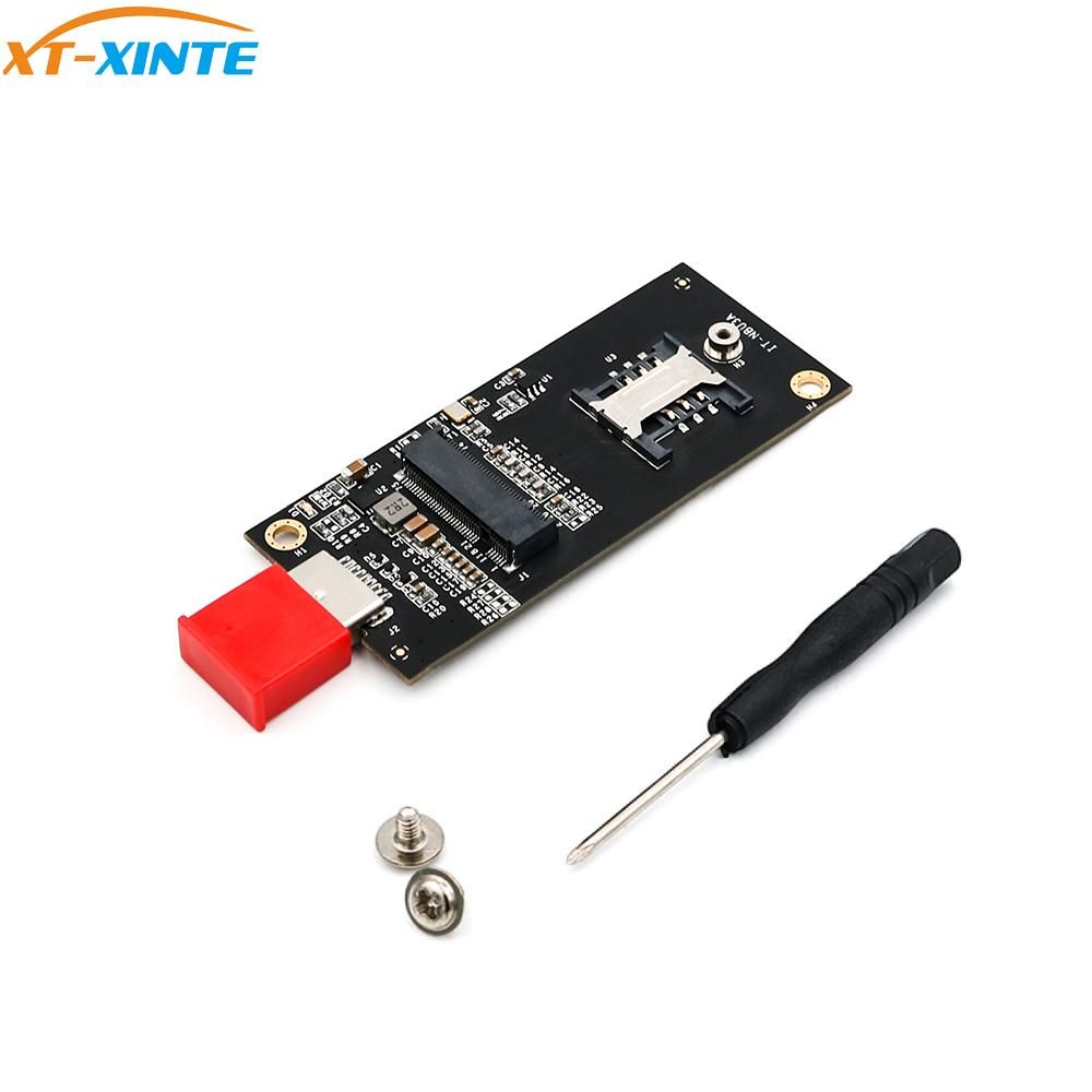 NGFF M.2 Key B To USB 3.0 Adapter Riser Card For Desktop PC With SIM 6pin Card Slot Connector Board For WWAN/LTE  2/3/4G Module