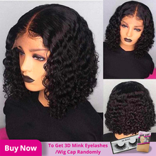 13*4 Curly Bob Wig Short Lace Front Human Hair