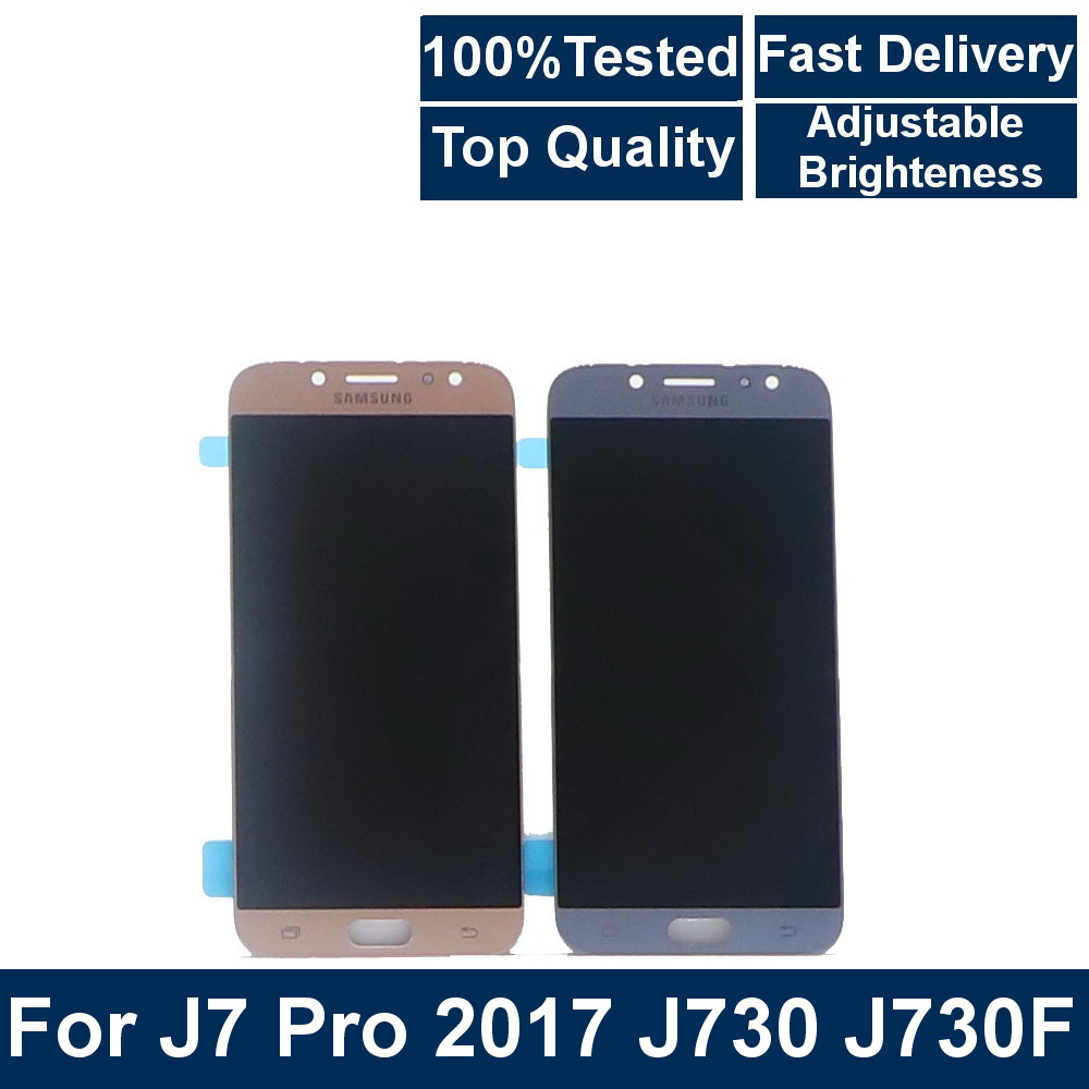 100%Tested 5.5''LCD For <font><b>SAMSUNG</b></font> <font><b>Galaxy</b></font> <font><b>J7</b></font> <font><b>2017</b></font> Pro J730 J730F LCD <font><b>Display</b></font> Touch Screen Digitizer Assembly Brightness Adjustbale image