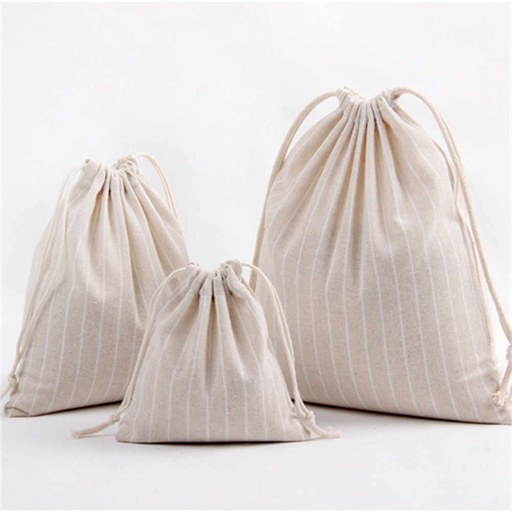 Bolsas con cordón de alta calidad bolsa de viaje bolsa de almacenamiento ropa bolso de algodón mujeres niñas zapatos bolsos bolsa de maquillaje