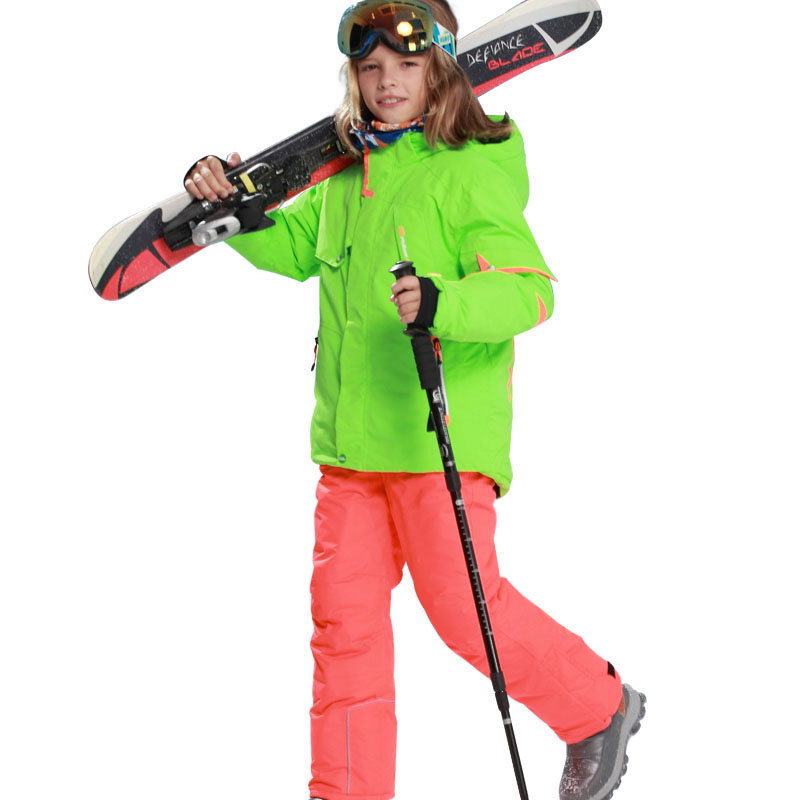 Winter Ski Suit 2019 Kids Windproof 5000 Outdoor Sports Snow Jackets And Pants Boys Girls -30 Degree Skiing Snowboarding Suits