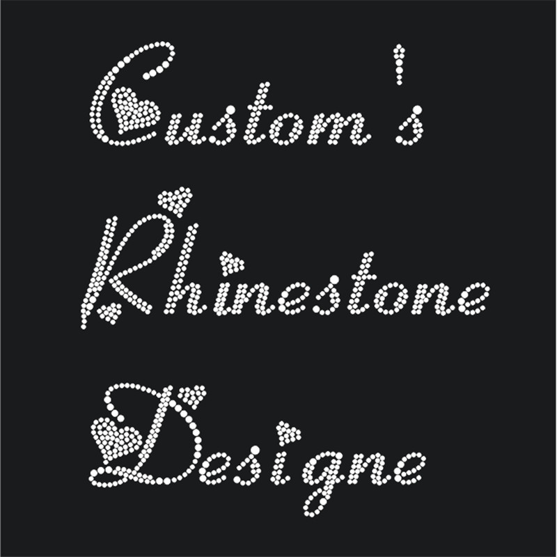 Custom Rinestone Transfer Hot-Fix Rhinestone Motif Iron-On Rhinestone Sticker For Clothes Diy Strass Motif Shirt Crafts