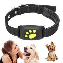 Rastreador GPS para mascotas, resistente al agua Collar para perros y gatos, función de llamada, carga USB, rastreadores GPS para perros universales
