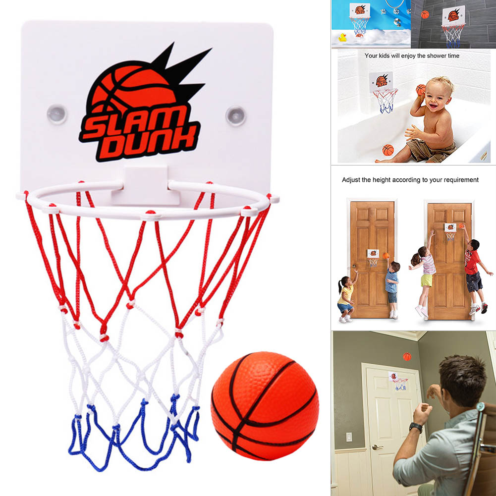Portable Children Kids Mini Basketball Hoop Toys Suck Wall-Mounted Stand With Pump Shooting Frame Sport Fun Gift Toys Set SD669