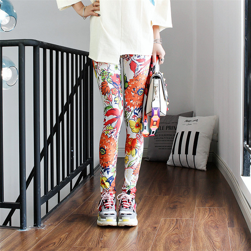 YRRETY Female Leggings Pants Print Leggings No Transparent Exercise Fitness Leggings Push Up Workout Female Polyester Pants New