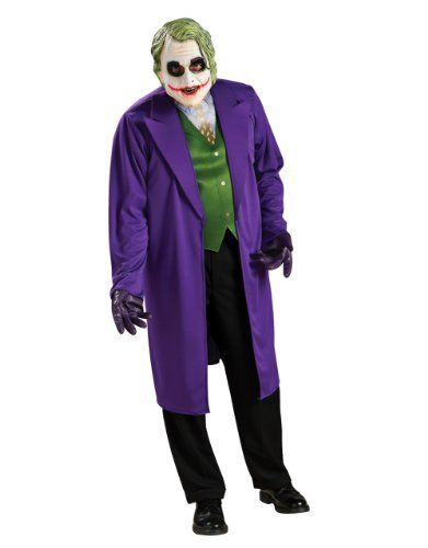 Dark Knight Costume, Mens Batman Joker Big Costume Style 1, Plus Size, CHEST 46 - 52