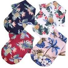 Beach-Shirt Overalls Fabric-Print Pomeranian Hawaii Dogs Summer for York Mini Casual