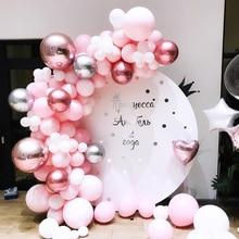 110pcs DIY Balloon Arch Macaron Pastel Pink Blue Latex Balloons 4D Ballon Garland Baby Shower Wedding Birthday Party Decorations