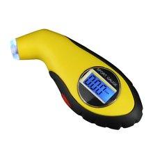 Samochód elektroniczny cyfrowy miernik ciśnienia w oponach LCD 0-100 PSI podświetlenie manometr barometr Tester narzędzie tanie tanio OUTAD NONE CN (pochodzenie) 4-6 9 cala DIGITAL 100-149 PSI Tire Pressure Gauge ABS rubber