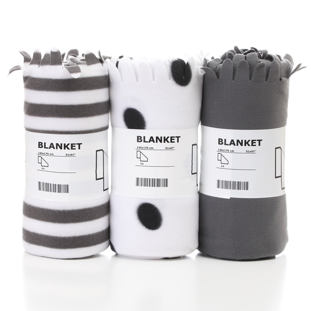 Do Ke Xin Ultrasonic Laser Plain Color Double-side Velvet Blanket Wholesale Aviation Blanket Solid Color Lap Robe