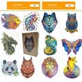2021 новые деревянные головоломки для взрослых детей деревянные поделки своими руками в форме животных подарок на Рождество деревянный пазл ...