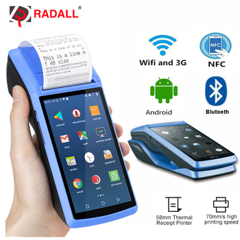 POS Terminal POS System PDA Barcode Scanner Android 3G WIFI Bluetooth wireless Thermal Printer Billing Machine  NFC Reader RD-M1