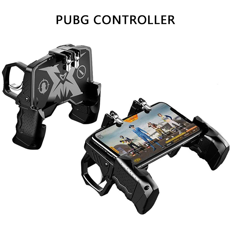 lowest price PUBG Mobile Trigger Controller Control For Mobile Phone Game L1 R1 Shooter Triggers Fire Button For iPhone Android Phone Gamepad