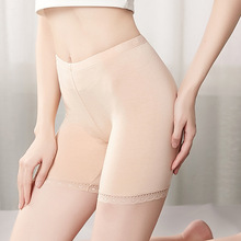 Beige M-XL Women Safety Short Pants Seamless Modal Fibre Lace Panties Summer Skinny Under Skirt Shorts Boxer Femme