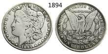 1894 Морган доллар США Посеребренная копия монеты