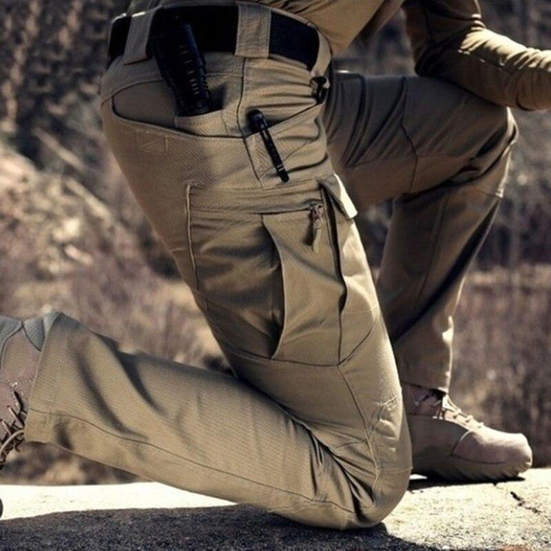Tacitcal Pants Men Elastic Multiple Pocket Male Trousers Casual Military Man Pant Mens Joggers Fitness Plus Size Cargo Pants Men