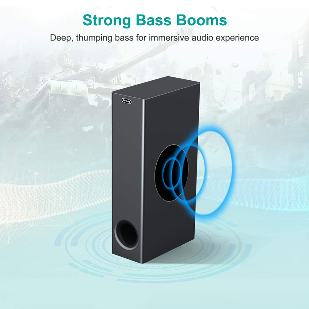 120W Home TV Theater Soundbar Bluetooth 5.0 Speakers Wireless Sound Bar 3D Stereo Column Surround Subwoofers with Remote Control 3