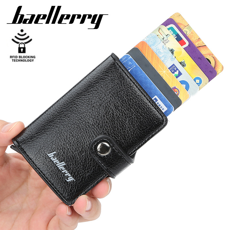 Rfid Top Quality Wallet Men Card Wallets Smart Wallet Mini Purse Male Vintage Automatical Aluminium Card Holder Wallet Small