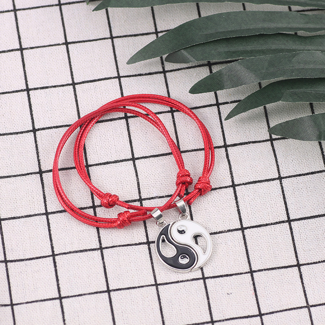 Bracelet Yin Yang Couple rouge