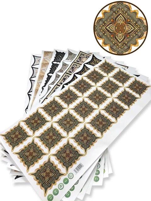 1 Set (21pcs) Self adhesive Tile Decorative Sticker Floor Waterproof Diagonal Sticker living room Tile Decoration Wall Decals 5