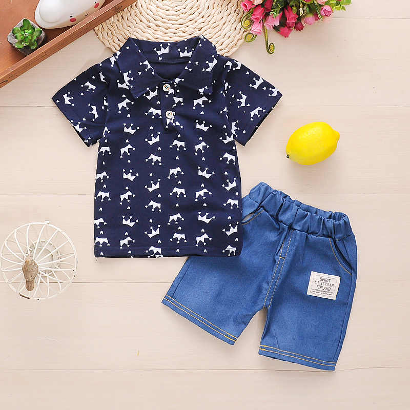 Toddler Boys Long Sleeve T Shirt Pants Set Casual Cotton Top and Trousers 2Pieces Clothing Sets