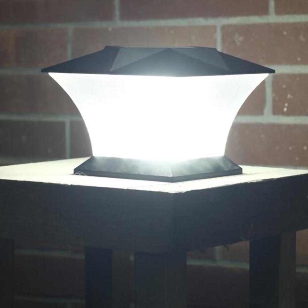 cerca solar lampada paisagem luz jardim post bone lampada 18 leds ao ar livre caminho deck
