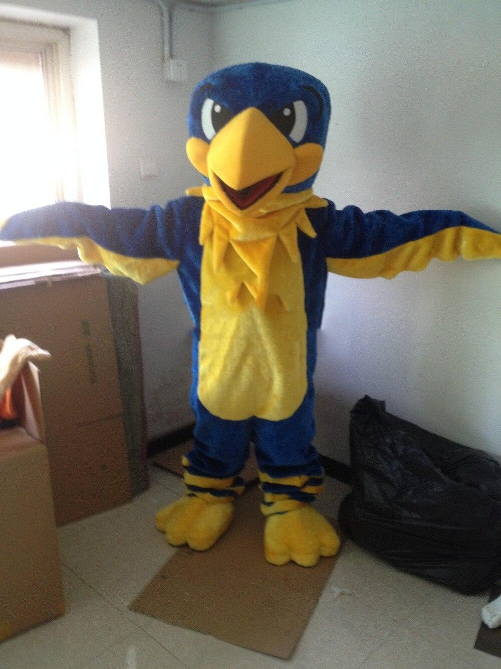 Costume de mascotte aigle bleu costumes Cosplay fête déguisements tenues publicité Promotion Halloween noël pâques adultes taille défilé