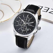 2019 Boss Watch Luxury Mens watches quartz stopwatch all function all pointers work boss waterproof